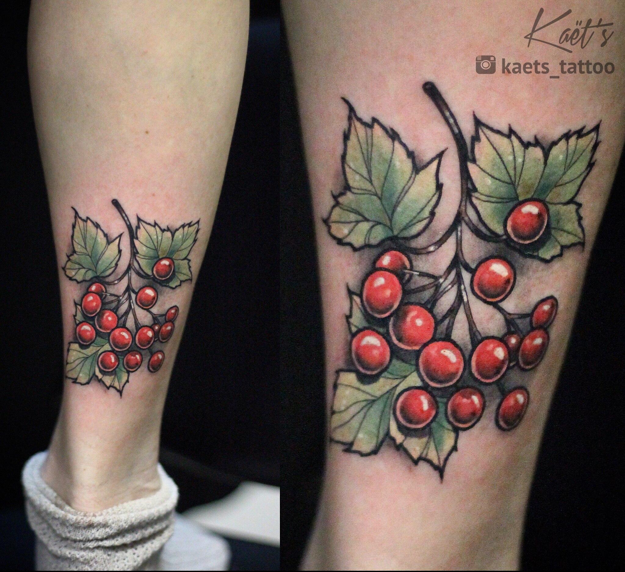 Художественная татуировка «Калина». Мастер- Ил Берёза.