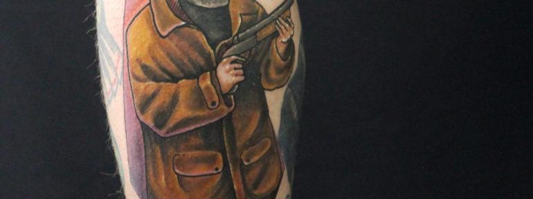 Художественная татуировка «Снайпер». Мастер Дима Поликарпов.