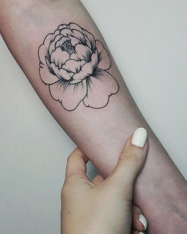Художественная татуировка «Цветок». Мастер Анастасия Куликова
