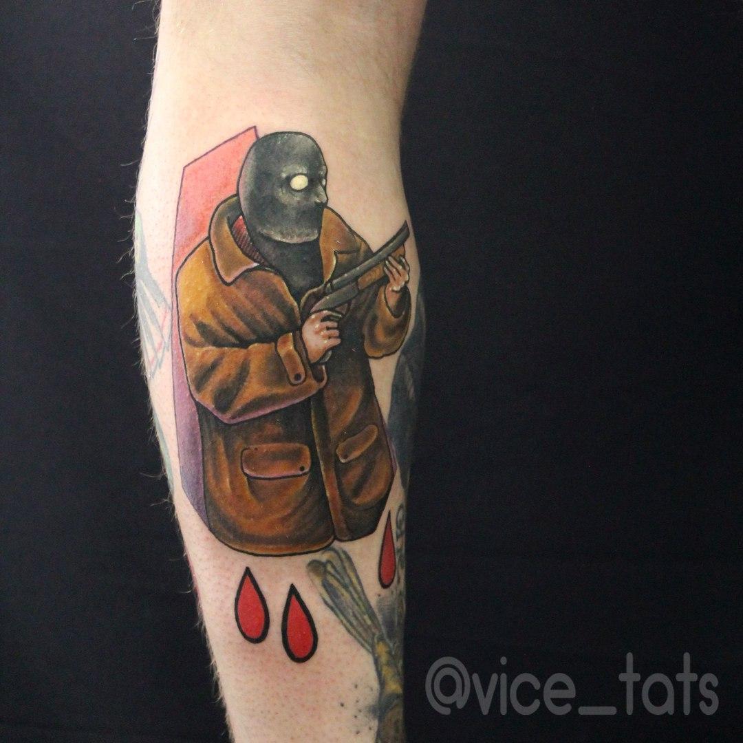 Художественная татуировка «Снайпер». Мастер Дима Поликарпов