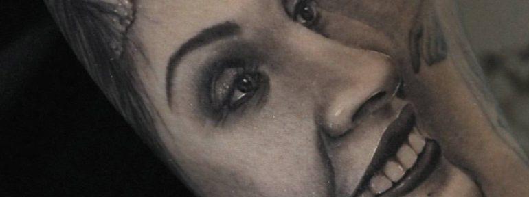 Художественная татуировка » Портрет любимой» Мастер — Сергей Семаков