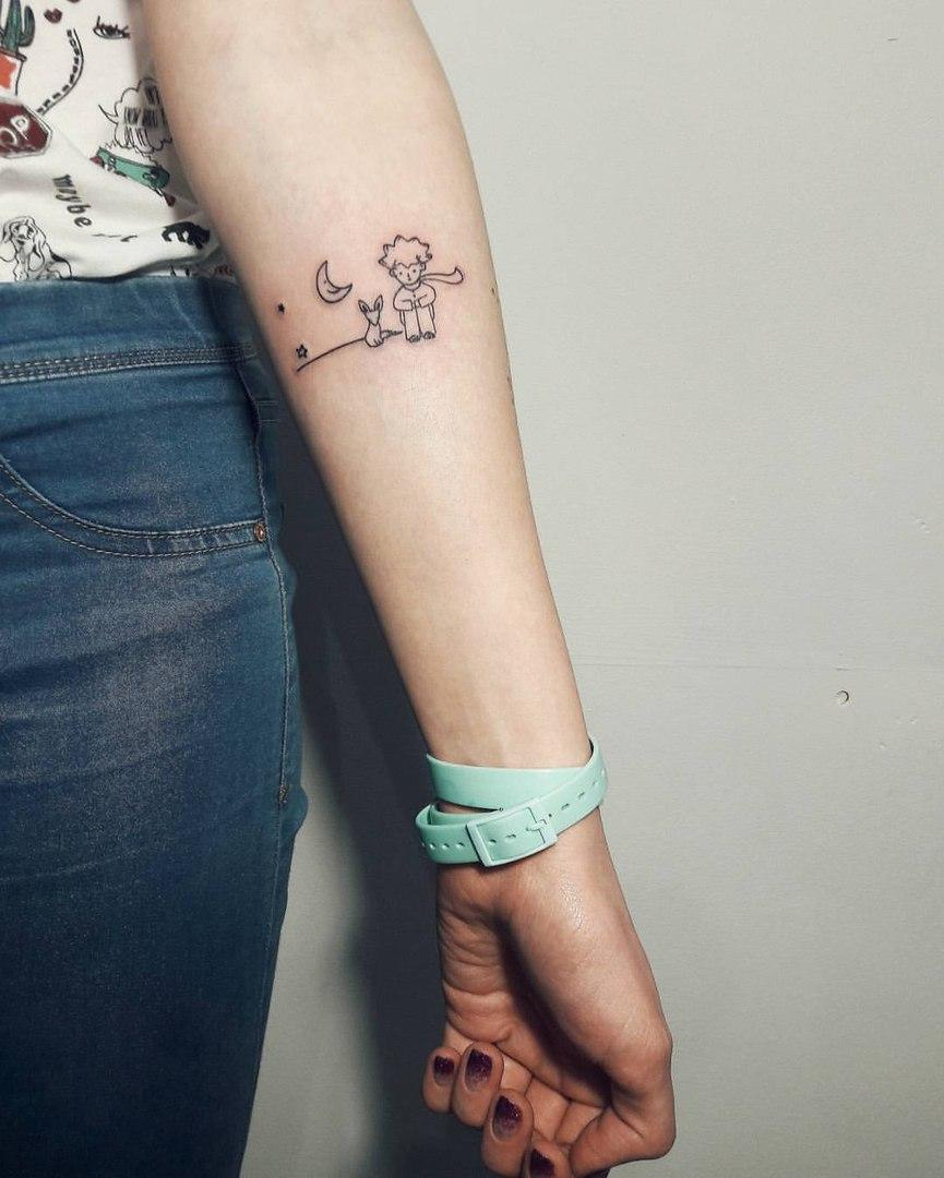 Художественная татуировка «Маленький принц». Мастер Анастасия Куликова