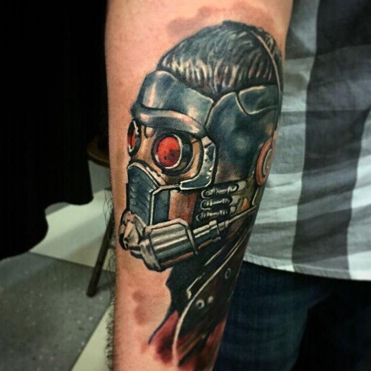 Художественная татуировка «Star-Lord». Мастер- Вася Эверест.