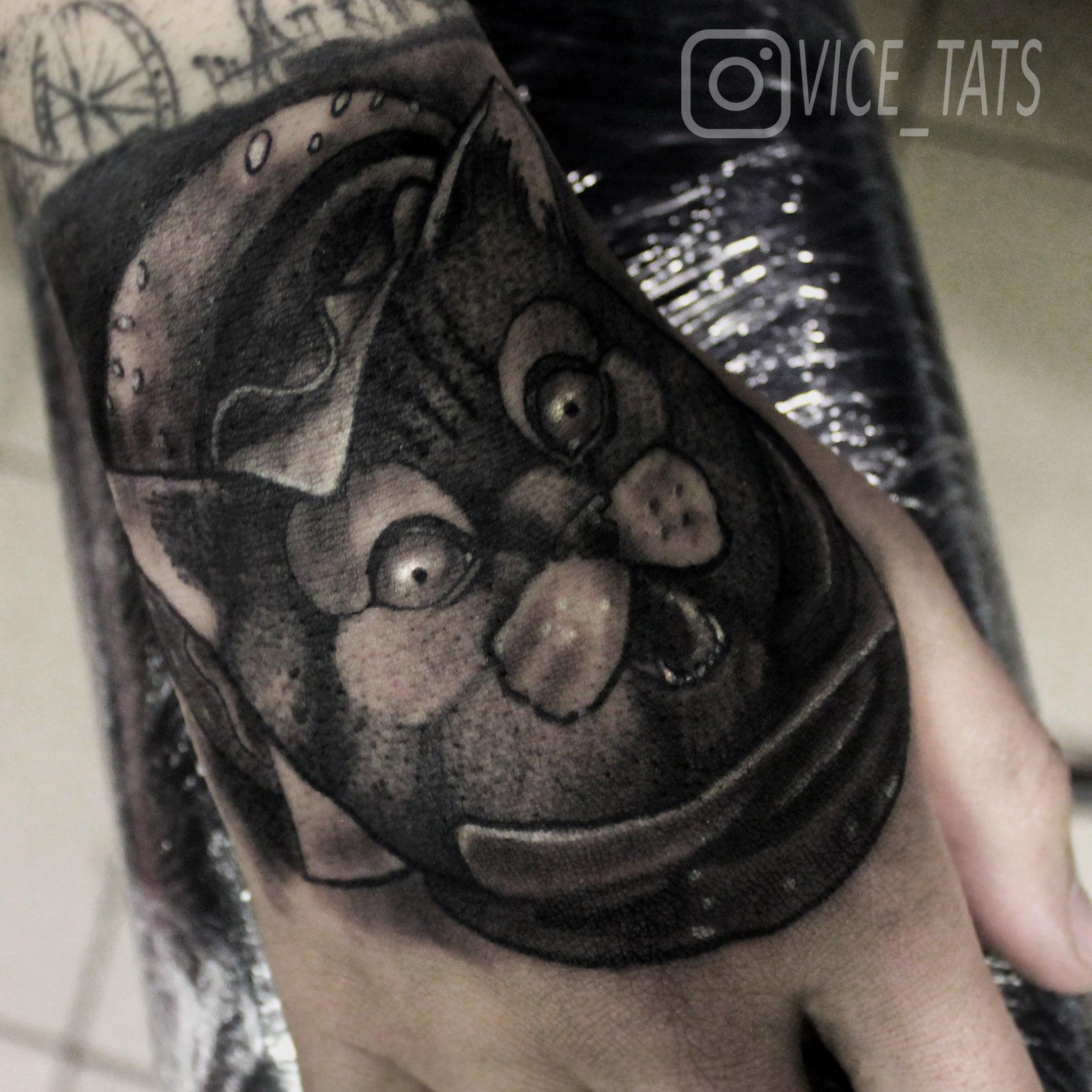 Художественная татуировка «Кот». Мастер Дима Поликарпов
