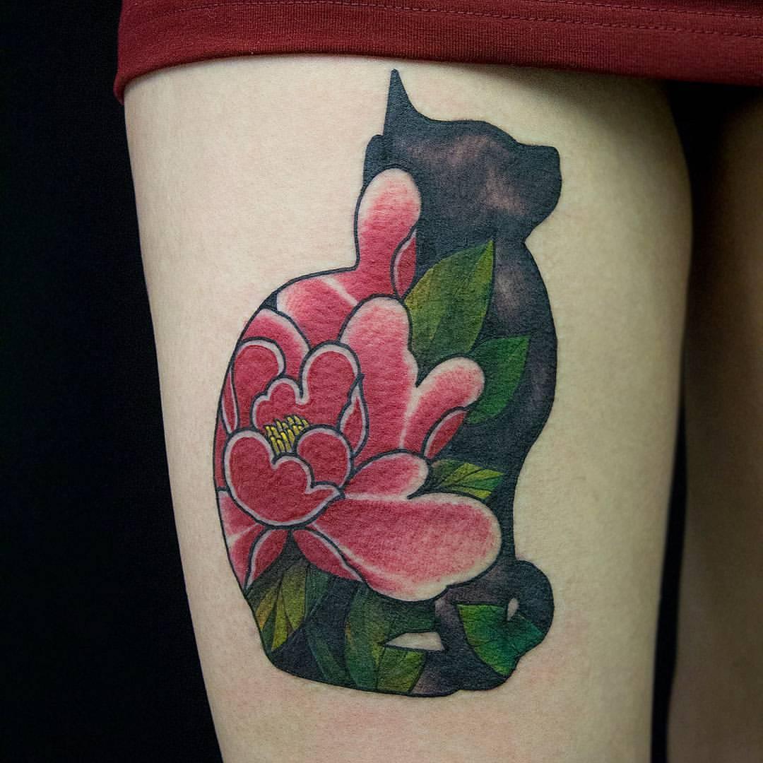 Художественная татуировка «Кот». Мастер Алексей Стафеев