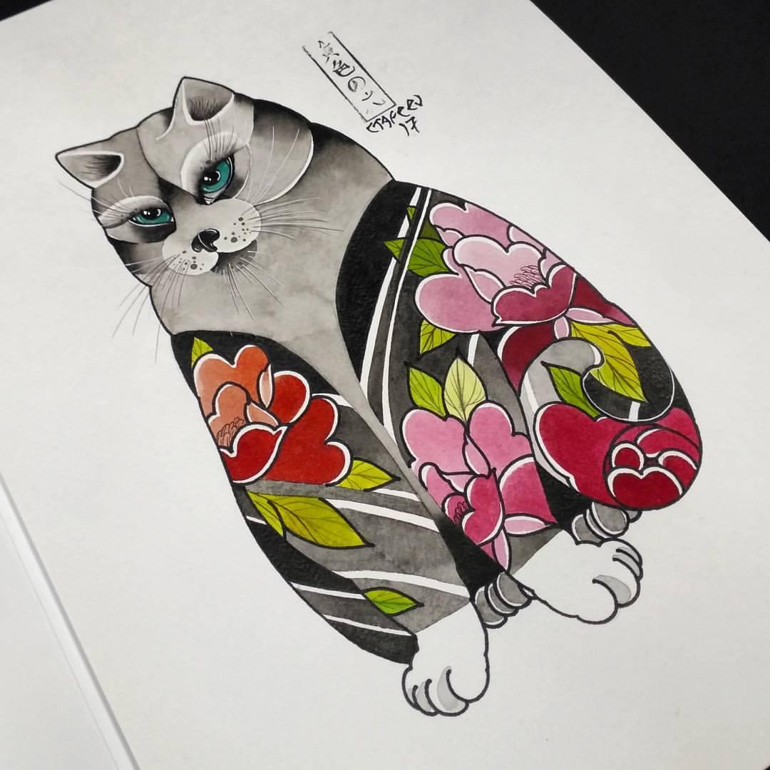 Свободный эскиз «Толстый кот». Мастер Алексей Стафеев