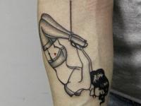 Татуировка БДСМ на предплечье