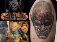 Татуировка Kreator на плече
