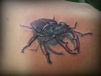 Татуировка жук