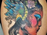 Татуировка голова девушки
