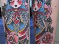 Татуировка матрёшка