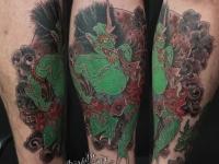 Татуировка черта на предплечье