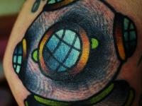Татуировка водолаз