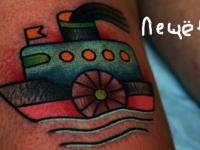 Татуировка кораблик