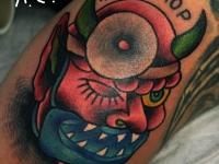 Татуировка голова лютого лора