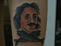 Татуировка портрет с рыбами