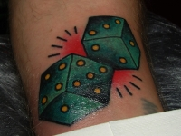 Татуировка игровые кубики