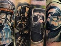 Татуировка головы в масках