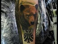 Татуировка морда медведя