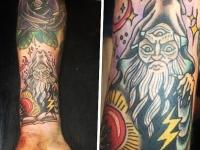 Татуировка злого колдуна на предплечье