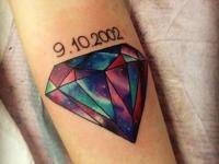 Татуировка алмаз на руке