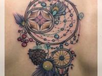 Татуировка амулет на спине