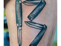 Татуировка ножи