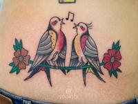 Тату 2 певчие птички