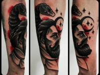 Татуировка мужская голова