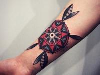 Татуировка на предплечье знак узор