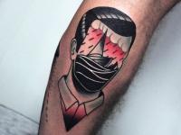 Татуировка безликий мужчина