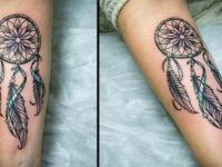 Татуировка ловец снов на предплечье