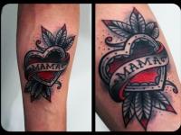 Татуировка сердце на предплечье