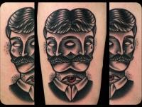 Татуировка портрет мужчины