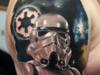 Татуировка штурмовика на плече