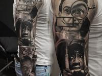 Татуировки сцен из фильма по всей руке