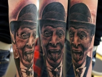 Татуировка портрет на предплечье