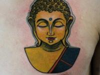 Татуировка голова индианки