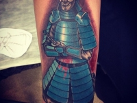 Татуировка воин в доспехах
