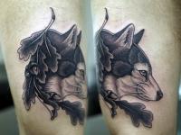 Татуировка добрый волк