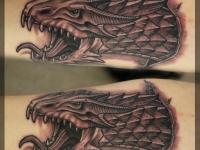 Татуировка голова дракона