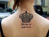 Татуировка корона на спине