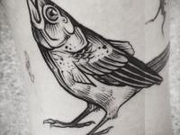 Татуировка рыба-птица