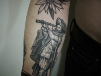 Татуировка мореплаватель на предплечье
