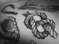 Татуировка верёвка