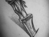 Татуировка кинжал