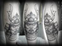 Татуировка лицо восточного воина