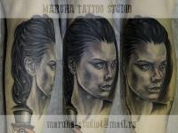 Татуировка женский портрет