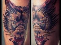 Татуировка голова зверя