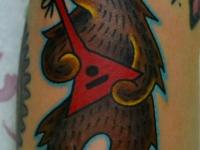 Татуировка медведь с балалайкой